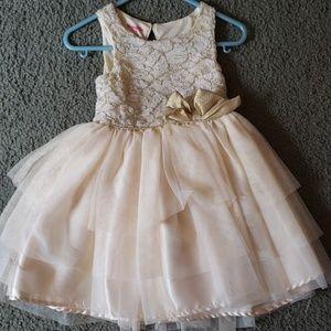 Gold sparkly toddler dress